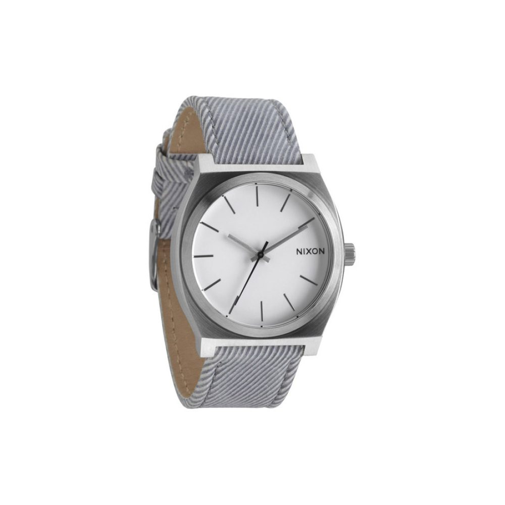 Nixon Time Teller Leather Pinstripe