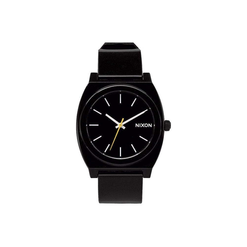nixon-timeteller-plastic-black